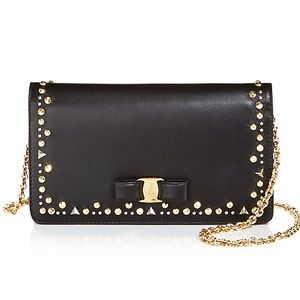 Salvatore Ferragamo Studded Vara Chain Wallet